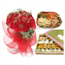 Flowers Mithai Dry Fruit Combo