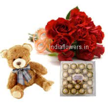 Roses Teddy Chocolate