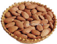 Pack of 1 Kg. Almonds. Basket is not included