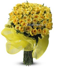 Invite new friend with this beautiful Bunch of 40 Yellow Roses for Frienship