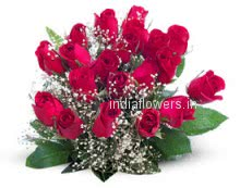 Bunch of 24 Valentine Red Roses for your Valentine!