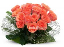 Beautiful Bunch of 24 Orange Roses, A beautiful gift.