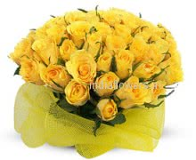 Friendship Bunch of 30 Yellow Roses specially for your friend.