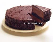 1 Kg. Egg Less Chocolate Truffle Cake.  Please note: This item is not available in small cities / remote locations.