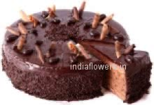 2 Kg. Egg Less Chocolate Cake. Please Order 2 Day in advance.  Please note: This item is not available in small cities / remote locations.