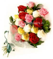 Mixed Roses Bunch