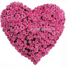 Big Heart of 100 Pink Roses. Show how much you love and care. This gift is best for every special occasion.