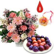 Rakhi Flowers and Sweets