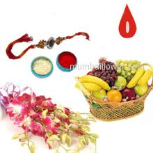 Rakhi Flowers Fruits