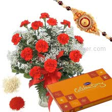 Rakhi Flowers Celebration Combo