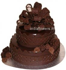 2 Tier Chocolate Party Cake