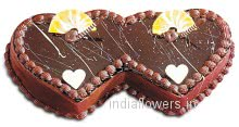 Twin Heart Shape Cake for Love and Romance, best for anniversaries available in 3 kg. approx.