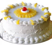 Big Pineapple Cake 2 Kg. Flavoured of Pinapple just doubled. Send 2 Kg. Pineapple Cake for Grand Celebration