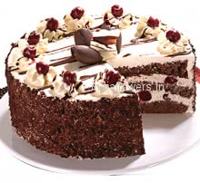 It looks like desert full of cream, but the name is black forest!.. This is also all time favorite cake for kids and girls. 1 Kg. Black Forest Cake is layered with frost cream and chocolate sponge.