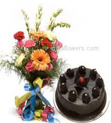 Mixed Flowers Cake