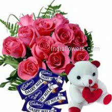 Flowers Chocolates Teddy