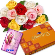 Roses Chocolates Card