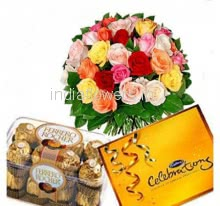 Mixed Flowers n Chocolates Combo