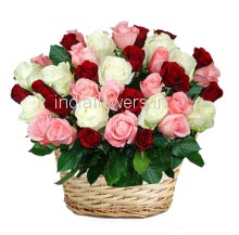 Basket of Pure Roses