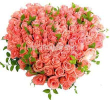 Heart Shape Pink Roses