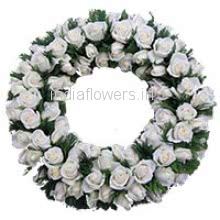 Wreath of White Roses