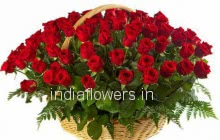 Basket of 60 Red Roses