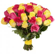 30 Pink and Yellow Roses