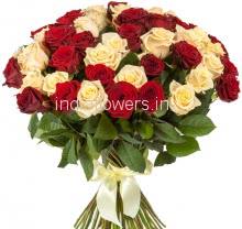 50 Red and Yellow Roses