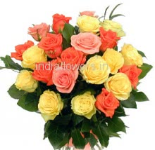 20 Pink Yellow Roses