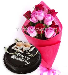 Rose Bouquet n Cake