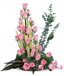 Pink Roses Arrangment