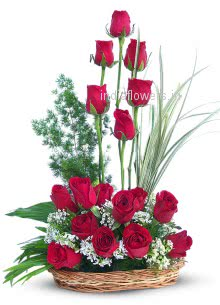 30 Red Roses arrangement nicely decorated with fillers and greens, special deliveries to Mumbai, New Delhi, Bangalore , Hyderabad, Patna,  Pune, Gurgaon, Ghaziabad , Nagpur, Ludhiana, Indore