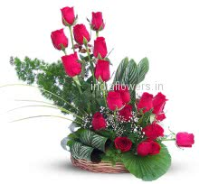 Flowers Arrangement of 24 Red Roses, Special Deliveries to Mumbai, New Delhi, Bangalore,  Surat, Vadodara, Vizag