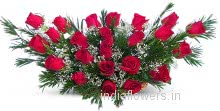 Valentine Red Roses in a Basket