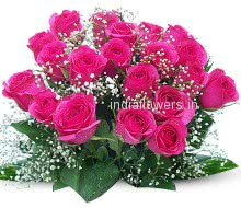 24 Valentines Day Pink Roses nicely decorated with Fillers and Ribbons, special deliveries to Mumbai, New Delhi, Bangalore , Hyderabad, Patna, Faridabad, Dehradun, Gurgaon, Ghaziabad , Nagpur