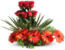 Arrangement of Red Flowers