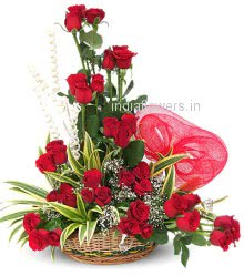 Best Seller Arrangement of 36 Valentine Red Roses nicely decorated with Fillers and Greens, special deliveries to Mumbai, New Delhi, Bangalore , Dehradun, Vadodara, Guwahati, Indore, Jalandhar