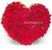 Heart of 150 Valentine Red Roses