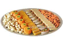 Pack of 1 Kg. Mix Mithai and Half Kg. Mixed Dry Fruit.